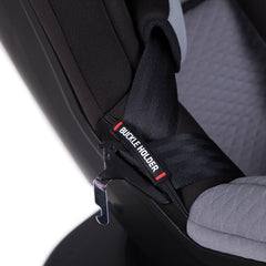 Mountain Buggy Safe Rotate ISOFIX Car Seat (Black/Silver) - close view, showing the seat`s buckle holder