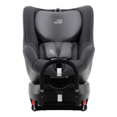 Britax DualFix 2 R Car Seat (Storm Grey) - front view, shown here rear-facing