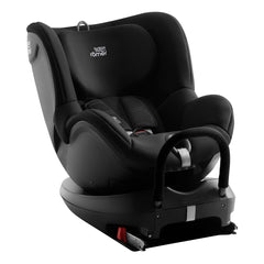 Britax DualFix 2 R Car Seat (Cosmos Black) - side view, shown here rear-facing and reclined