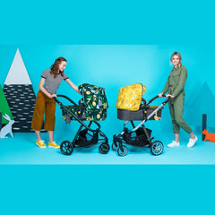 Cosatto Giggle 3 Pram & Pushchair (Spot The Birdie) - lifestyle image, showing Giggle 3 and Giggle Quad