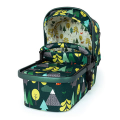 Cosatto Giggle 3 Pram & Pushchair (Into The Wild) - quarter view, showing the carrycot