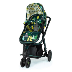 Cosatto Giggle 3 Pram & Pushchair (Into The Wild) - quarter view, showing the pushchair in forward-facing mode