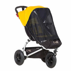 Mountain Buggy Sun Cover Set (Mini/Swift v3.0) - quarter view, showing the mesh sun cover (pushchair not included, available separately)