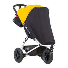 Mountain Buggy Sun Cover Set (Mini/Swift v3.0) - quarter view, showing the black out cover (pushchair not included, available separately)