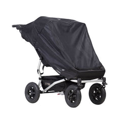 Mountain Buggy Sun Cover Set - Sun & Blackout (Duet v3 DOUBLE) - shown here with the sun mesh cover