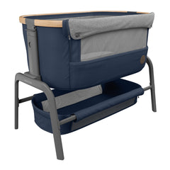 Maxi-Cosi Iora Co-Sleeping Crib (Essential Blue) - quarter view