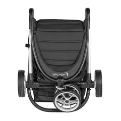 Baby Jogger City Mini 2 Single 3 Wheel Stroller (Jet) - front view, shown folded