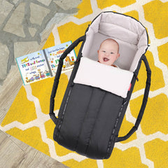Phil & Teds XL COCOON Soft Carrycot (Black) - lifestyle image