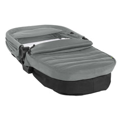 Baby Jogger City Mini 2 Carrycot (Slate) - quarter view, showing the carrycot collapsed for transport and storage