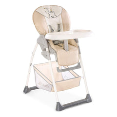 Hauck Disney Sit 'n' Relax Highchair (Pooh Cuddles) - quarter view, showing the highchair with its food tray