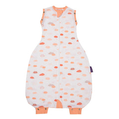 Clevamama 3-in-1 Nite Nite Romper (Coral Clouds) - showing its arm and leg cuffs