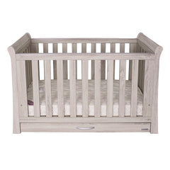Babystyle Noble Cot Bed (Soft Oak) - front view