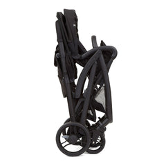 Joie Evalite Duo Stroller (Coal) - side view, shown here folded