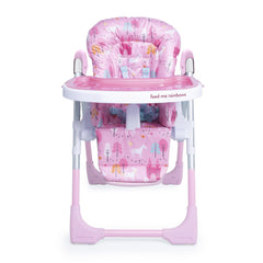 Cosatto Noodle 0+ Highchair (Unicorn Land) - front view, shown here as its lowest height