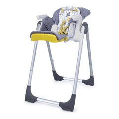 Cosatto Noodle 0+ Highchair (Fika Forest) - quarter view, shown here as the cradle with newborn liner and seat reclined