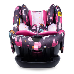 Cosatto All In All Plus ISOFIX Car Seat (Unicorn Land) - front view, shown here reclined