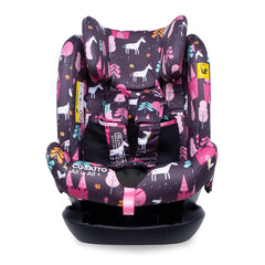 Cosatto All In All Plus ISOFIX Car Seat (Unicorn Land) - front view, shown here without the newborn insert