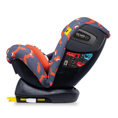 Cosatto All In All Plus ISOFIX Car Seat (Charcoal Mister Fox) - side view, shown here reclined, rear-facing and with ISOFIX brackets extended