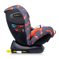 Cosatto All In All Plus ISOFIX Car Seat (Charcoal Mister Fox) - side view, shown here reclined and in forward-facing mode