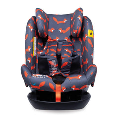 Cosatto All In All Plus ISOFIX Car Seat (Charcoal Mister Fox) - front view, shown here without the newborn insert
