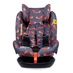 Cosatto All In All Plus ISOFIX Car Seat (Charcoal Mister Fox) - front view, shown here with headrest raised