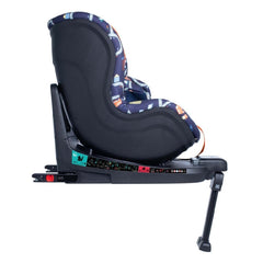 Cosatto RAC Come & Go i-Rotate i-Size Car Seat (Road Map) - side view, shown in forward-facing mode with the seat upright