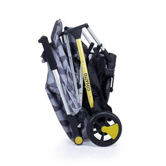Cosatto Yay Stroller (Seedling) - side view, shown here folded