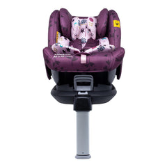 Cosatto All In All Rotate ISOFIX Car Seat - Group 0+123 (Fairy Garden) - front view, shown here in forward-facing mode with the newborn liner and the seat reclined