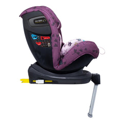 Cosatto All In All Rotate ISOFIX Car Seat - Group 0+123 (Fairy Garden) - side view, shown here in forward-facing mode with the seat reclined