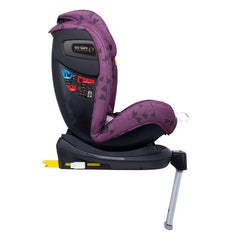 Cosatto All In All Rotate ISOFIX Car Seat - Group 0+123 (Fairy Garden) - side view, shown here in forward-facing mode with the newborn liner removed and the seat upright