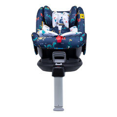 Cosatto All In All Rotate ISOFIX Car Seat - Group 0+123 (Sea Monsters) - front view, shown here in forward-facing mode with the newborn liner and the seat reclined