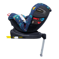 Cosatto All In All Rotate ISOFIX Car Seat - Group 0+123 (Sea Monsters) - side view, shown here in rear-facing mode with the seat reclined