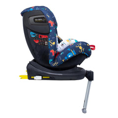 Cosatto All In All Rotate ISOFIX Car Seat - Group 0+123 (Sea Monsters) - side view, shown here in forward-facing mode with the seat reclined