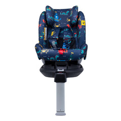 Cosatto All In All Rotate ISOFIX Car Seat - Group 0+123 (Sea Monsters) - front view, shown here in forward-facing mode without the newborn liner
