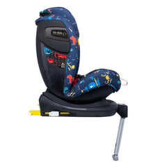 Cosatto All In All Rotate ISOFIX Car Seat - Group 0+123 (Sea Monsters) - side view, shown here in forward-facing mode with the seat upright
