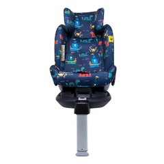 Cosatto All In All Rotate ISOFIX Car Seat - Group 0+123 (Sea Monsters) - front view, shown here in forward-facing mode with the harness removed and the head rest fully raised