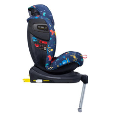 Cosatto All In All Rotate ISOFIX Car Seat - Group 0+123 (Sea Monsters) - side view, shown here in forward-facing mode with the head rest fully raised