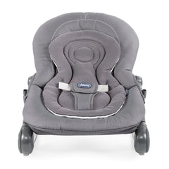 Chicco Hoopla Baby Bouncer (Moon Grey) - front view, shown here without the toy arch