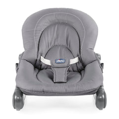 Chicco Hoopla Baby Bouncer (Moon Grey) - front view, shown here without the insert and toy arch