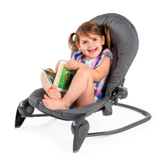 Chicco Hoopla Baby Bouncer (Moon Grey) - lifestyle image, shown here as the seat with a toddler