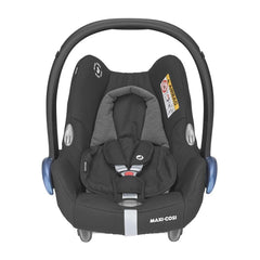 Maxi-Cosi CabrioFix Infant Carrier Car Seat (Essential Black) - front view, shown here with the newborn support