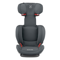 Maxi-Cosi RodiFix AirProtect Car Seat (Authentic Graphite) - front view, shown here with the headrest fully raised