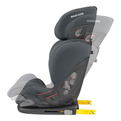 Maxi-Cosi RodiFix AirProtect Car Seat (Authentic Graphite) - side view, showing the seat`s reclining function