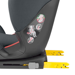Maxi-Cosi RodiFix AirProtect Car Seat (Authentic Graphite) - side view, showing the seat`s ISOFIX connection brackets fully extended