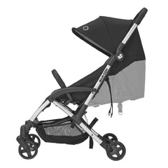 Maxi-Cosi Laika 2 Stroller (Essential Black) - side view, showing the reclining seat