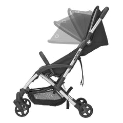 Maxi-Cosi Laika 2 Stroller (Essential Black) - side view, showing the extendable canopy