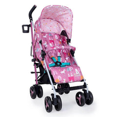 Cosatto Supa 3 Stroller (Dusky Unicorn Land) - quarter view