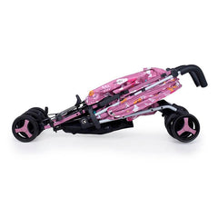 Cosatto Supa 3 Stroller (Dusky Unicorn Land) - side view, showing the stroller`s compact umbrella fold
