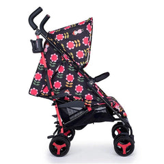 Cosatto Supa 3 Stroller (Fairy Garden Daisy) - side view, shown here with its seat fully reclined