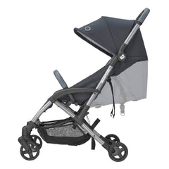 Maxi-Cosi Laika 2 Pushchair (Essential Graphite) - side view, showing the reclining seat